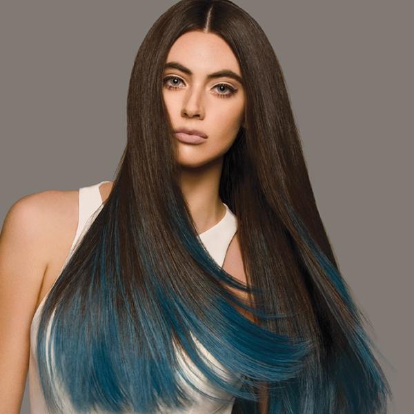 Haarverlaengerung mit Farbverlauf